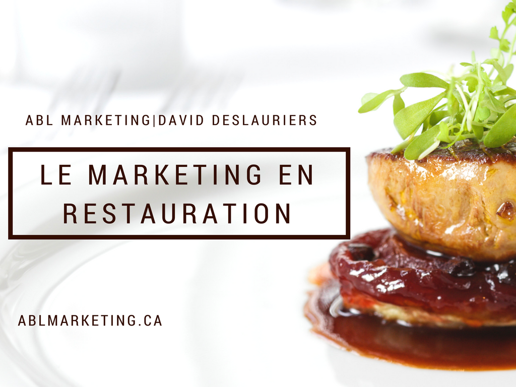 Le marketing en restauration