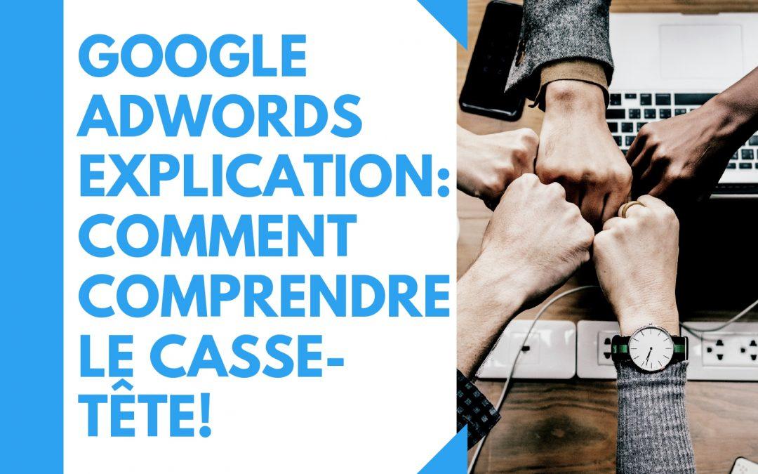 Google Adwords explication : comment comprendre le casse-tête!